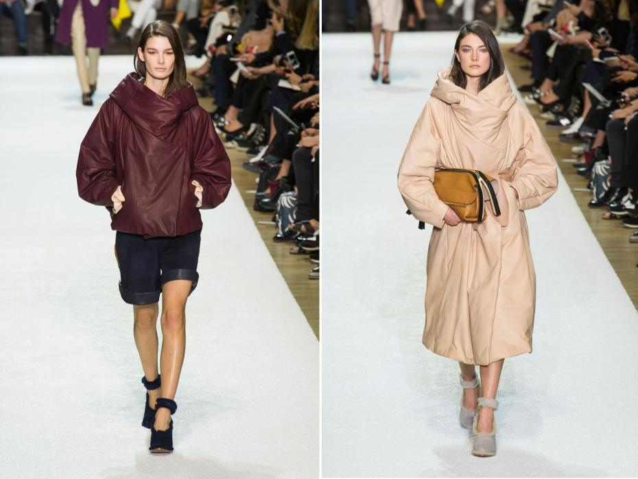 Doudoune haute-couture chez Chloé - crédit image : Imaxtree